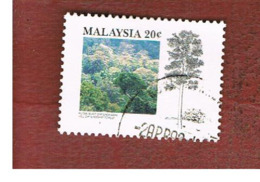 MALESIA (MALAYSIA)  -  SG 476  -   1992  TROPICAL FORESTS: HILL FOREST -  USED ° - Malesia (1964-...)
