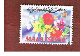 MALESIA (MALAYSIA)  -  SG 485  -   1992  ASEAN ANNIVERSARY: FLOWERS -  USED ° - Malesia (1964-...)