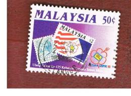 """MALESIA (MALAYSIA)  -  SG 490  -   1992  """"KUALA LUMPUR '92"""" INT. STAMP EXN. -  USED ° - Malesia (1964-...)"""
