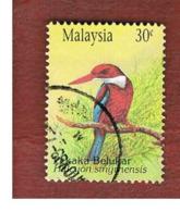 MALESIA (MALAYSIA)  -  SG 512  -   1993  BIRDS: KINGFISHER -  USED ° - Malesia (1964-...)