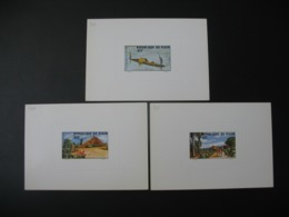 Niger  épreuve De Luxe  N° 345 - 346 - 347  Tourisme Au Niger  - Traversée Du Fleuve Et Campement Boubon - Niger (1960-...)