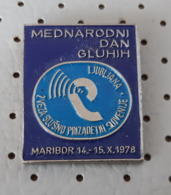 International Day Of The Deaf Persons With Disabilities Maribor 1978 Slovenia Ex Yugoslavia Pin - Medici