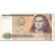 Billet, Pérou, 500 Intis, 1987, 1987-06-26, KM:134b, TB - Peru