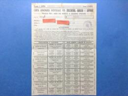 ITALIA REGNO 1943 CARTA ANNONARIA X ZUCCHERO SAPONE OLIO BURRO GRASSI DI MAIALE COMPLETA DI CEDOLE PROVINCIA DI COSENZA - Documenti Storici