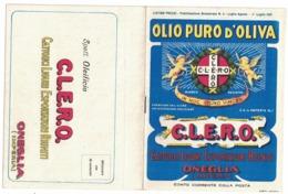 CARTOLINA POSTALE CARTE POSTALE OLIO DI OLIVA C.L.E.R.O. ONEGLIA - Pubblicitari