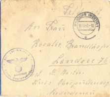 GUERRE 39-45 CORRESPONDANCE WARBURG TàD 19.10.42 - Storia Postale