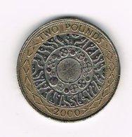 /  GREAT  BRITAIN  2  POUNDS 2000 - 1971-…: Dezimalwährungen