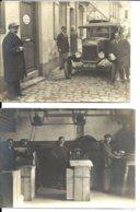 USINE De CARTONNAGE E. L'HOMME - 4 Photos 1923 - Automobile (beau Plan Immatriculation Lisible) Ouvriers - Industry
