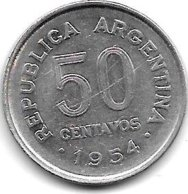 Argentina 50 Centavos 1954 Km 49  Xf+ - Argentinië