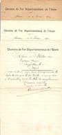 LOT De 3 COURRIERS SNCF CHEMINS De FER DÉPARTEMENTAUX De L'AISNE (02) - 1922 1923 - SOISSONS SOUPIR - Railway