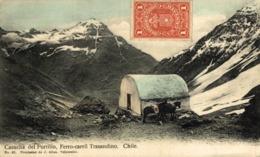 CASUCHA DEL PORTILLO. FERROCARRIL TRASANDINO. CHILE - Chile