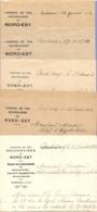 LOT De 5 COURRIERS SNCF CHEMINS De FER SECONDAIRES Du NORD EST - 1932 SOISSONS PONT ARCY - Railway