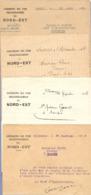 LOT De 4 COURRIERS SNCF CHEMINS De FER SECONDAIRES Du NORD EST - 1926 1931 PARIS SOISSONS PONT ARCY SOUPIR - Railway