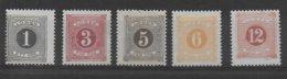 SUEDE - TAXE YVERT N°1/5 A * MH  - COTE = 28.5 EUR. - Neufs