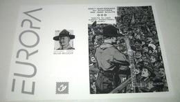 Europa / België 2007  Zwart-Wit Blaadje Van 3633/34** (Blok 142) Baden Powell Scouts / Gilwell - Black-and-white Panes