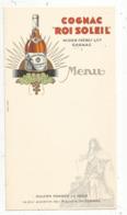 Menu ,COGNAC ROI SOLEIL ,Augier Frères & Co, Cognac,  Vierge , Frais Fr 1.55 E - Menus