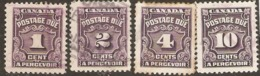 Canada  1935  Postage Dues Various Values   Fine Used - Gebruikt