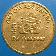 TA 058-01 - De Wasbeer - Delft - Bear - Auto Wasserette Car Wash Machine Token Clean Park Auto Wasch Waschpark - Firma's