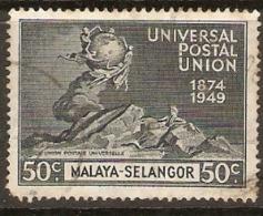 Malaya  Selangor     1949    SG 144   U P U Missing Bottom Left Corner   Fine Used - Selangor