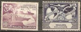 Malaysia  Selangor  1949  SG  111,2  U P U   Mounted Mint - Selangor