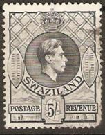 Swaziland  1938  SG  37  5/-d  Grey  Bottom Right Corner Missing   Fine Used - Swaziland (...-1967)