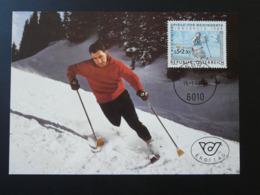 Carte Maximum Card Coupe Du Monde Ski Handisport Autriche Austria (ref 84744) - Skiing