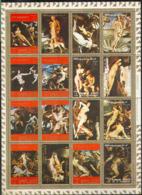 3362 ✅ Art Painting Rafael Nudes 1972 Ajman Sheet MNH ** - Desnudos