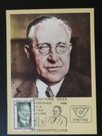 Carte Maximum Card Viktor Franz Prix Nobel Physique Physics Europa 1983 Autriche Austria (ref 84790) - Nobel Prize Laureates