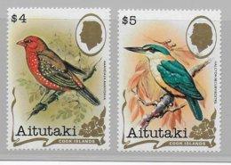 AITUTAKI - YVERT N° 326/327 ** MNH  - COTE = 67.5 EUR. - BIRDS / OISEAUX - Aitutaki