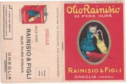 CARTOLINA POSTALE CARTE POSTALE OLIO DI OLIVA  RAINISIO & FIGLI  ONEGLIA-IMPERIA - Pubblicitari