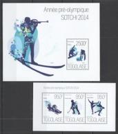 TG648 2013 TOGO TOGOLAISE SPORT WINTER OLYMPIC GAMES SOCHI 2014 KB+BL MNH - Winter 2014: Sochi