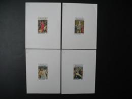 Togo  épreuve De Luxe  N° 836 - 837 - 838 - 839 Tableaux  Pâques  1975 El Greco Janoslet Bellini ... - Togo (1960-...)