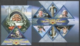 TG708 2013 TOGO TOGOLAISE FIRST MAN IN SPACE YURI GAGARIN VOSTOK 1 KB+BL MNH - Espace