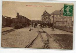 02 SISSONNE Plutot Rare La Gare Des Voyageurs Vue Interieur Train Locomotive Aiguillage 1913 Tim   D16 2019 - Sissonne