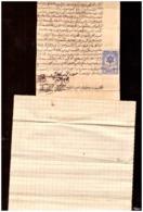 Maroc. Protectorat Espagnol. Timbre Fiscal Sur Manuscrit 1935 Portant Stipulation Testamentaire. - Manuscripts