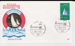 Germany Cover 1972 München Olympic Games - Kiel   (G103-29) - Summer 1972: Munich