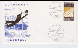 Germany Cover 1972 München Olympic Games - Göppingen Handball  (G103-29) - Summer 1972: Munich