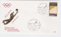 Germany Cover 1972 München Olympic Games - Böblingen Handball (G103-29) - Summer 1972: Munich