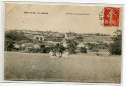 70 MONTARLOT Les RIOZ Femmes Et Enfants Au Champ Vue Large Village 1908 écrite - Edit Ch Tissot     D16  2019 - Altri Comuni