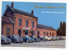 80 LOMME Club Automobile Le 203 PEUGEOT  Membres  En Gare Voyageurs Inauguration Ligne TGV 11 Octobre 1997  D16  2019 - Autres Communes