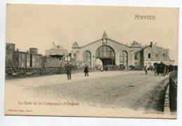 44 NANTES Locomotive Train De Marchandises Gare De La Compagnie D'Orléans Dugas Edit 1900    D16  2019 - Nantes