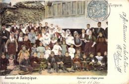 """CPA TURQUIE / SALONIQUE """"Costumes Grecs"""" - Turquie"""