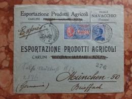 REGNO - Busta Pubblicità Espresso Inviata In Germania - Annulli Arrivo + Spese Postali - 1900-44 Vittorio Emanuele III
