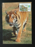 Carte Maximum Card Tigre Tiger New Zealand (ref 85066) - Raubkatzen