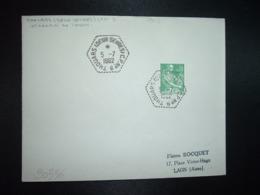 LETTRE TP PAYSANNE 0,10 OBL. HEXAGONALE Tiretée 5-7 1962 THOUARS (DEUX-SEVRES) CP N°9 (CORRESPONDANT POSTAL) - Cachets Manuels