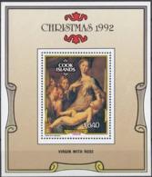ISOLE COOK - 1992 - Foglietto Yvert BF206, Nuovo MNH, Dentellato, Natale 1992. - Cook