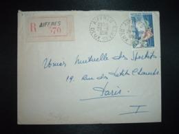 LR TP JOAILLERIE 50F OBL. Tiretée 29-9 1956 AIFFRES DEUX-SEVRES (79) - Cachets Manuels