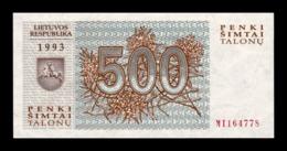 Lituania Lithuania 500 Talonas Wolves 1993 Pick 46 SC UNC NC - Lituania