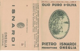 CARTOLINA POSTALE CARTE POSTALE OLIO DI OLIVA PIERO ISNARDI ONEGLIA - Pubblicitari
