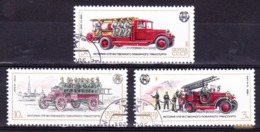 Fireman Cars / Voitures De Pompiers - Russia, URSS, 1985 / Used - Firemen